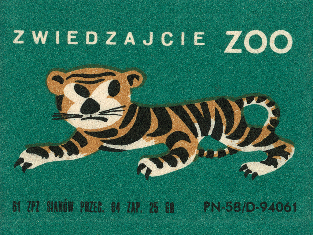 Matchbox label with zoo image