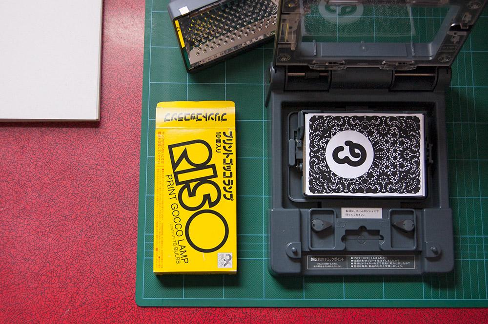 Gocco printer ready to make a master screen