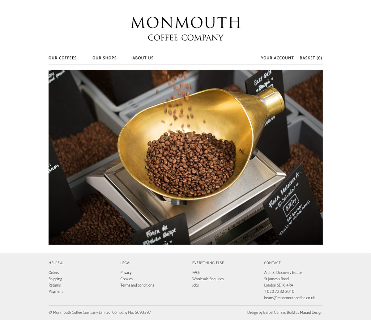 Monmouth coffee web design york and website development york monmouth coffee forumfinder Choice Image